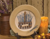 Country Cottage Lavender Basket Decorative Plate
