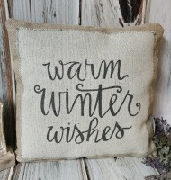 Warm Winter Wishes Accent Pillow