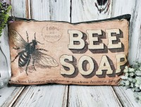 Bee Soap Spring Vintage Advertising Pillow