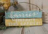 Fairy Garden Wooden Sign