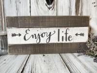 "Rustic Farmhouse ""Enjoy Life"" Box Sign"