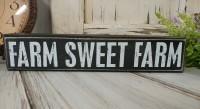 Sweet Farm Black & White Farmhouse Home Decor Message Block