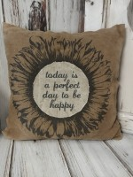 Rustic Sunflower Canvas Home Decor Accent Pillow