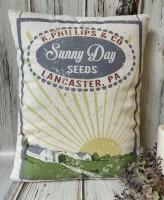 Sunny Days Farm Seed Advertising Home Decor Pillow - Vintage Farmhouse Style