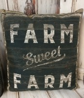 Sweet Farm Farmhouse Style Home Decor Accent Pillow