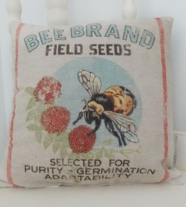Vintage Inspired Summer Bee Garden Home Accent Pillow