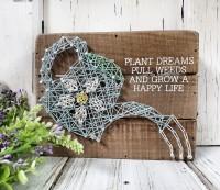 Happy Life Gardening Box Sign