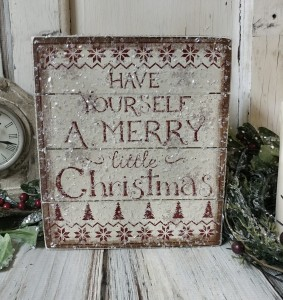 Have a Merry Christmas Slat Box Sign - Farmhouse Home Decor