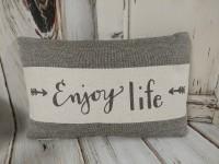 Enjoy Life Arrow Canvas Home Decor Accent Pillow