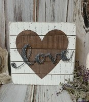 Love Heart Valentines Day String Art Rustic Farmhouse Box Sign