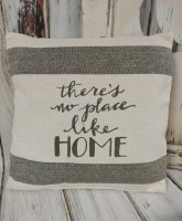 No Place Like Home Canvas Home Accent Pillow