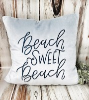 Sweet Beach Lake House Velvet Accent Pillow