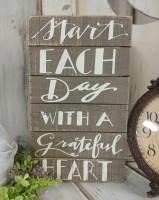 Grateful Heart Farmhouse Cottage Box Sign