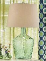 Hammered Glass Table Lamp - Modern Farmhouse