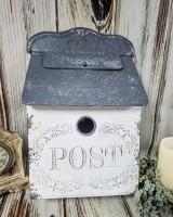 Rustic White Decorative Post Box