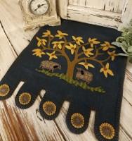 Sheep & Tree Wool Penny Primitive Rustic Folk Table Runner