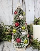 Christmas Snow Topped Bottle Brush Tree