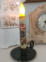 Vintage Inspired Seed Packet Flameless Battery Timer Taper Candle
