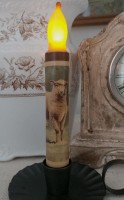 Farmhouse Sheep Flameless Battery Timer Taper Candle