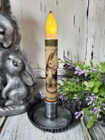 Garden Rabbit Flameless Timer Taper Candle