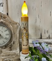 Peter Rabbit Flameless Timer Taper Candle - Battery Operated