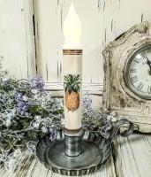 Pineapple Handmade Flameless Timer Taper Candle