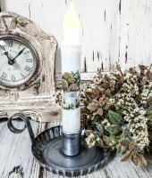 Autumn Hydrangea Watering Can Handmade Timer Taper Candle