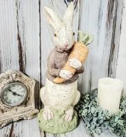 Large Boy Bunny - Vintage Inspired Easter /Spring  Home Decor