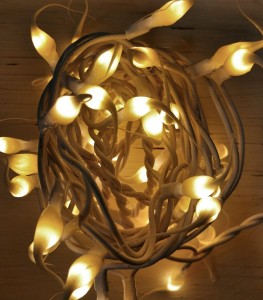Hand Dipped Custard String Lights - 50 Count Strand