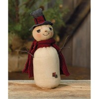 Rustic Country Fabric Winter Snowman Home Decor Accent