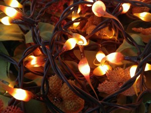 Harvest Mix Autumn /  Fall Hand Dipped Light Strand - Candle Look String Lights